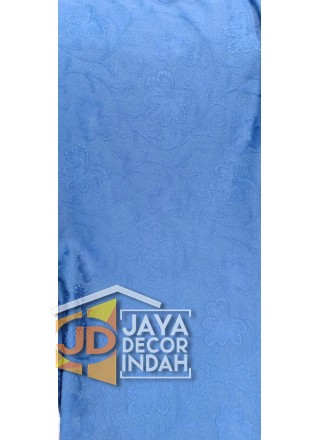 Bahan Sofa Bunga Biru