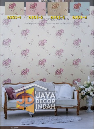 LUSSO Wallpaper 6303 Flower Garden